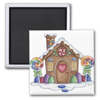 Gingerbread Candy House Kitchen Magnet