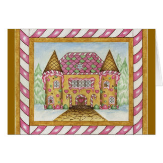 Gingerbread Castle Card