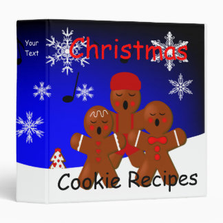 Gingerbread Christmas Carolers Recipe Binder