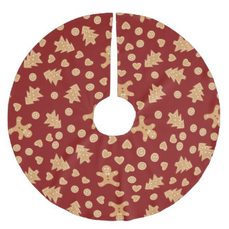 Gingerbread Christmas Cookies Brushed Polyester Tree Skirt