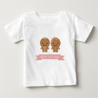Gingerbread Christmas Couple Baby T-Shirt
