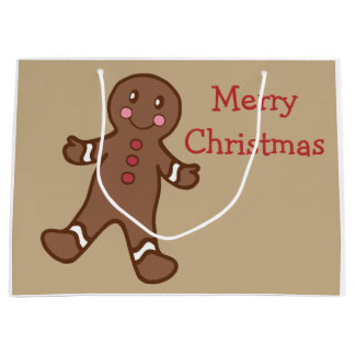 Gingerbread Christmas Gift Bag