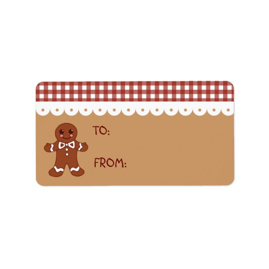 Gingerbread Christmas Kitchen Gift Tag Labels