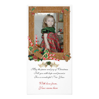 Gingerbread Christmas photo card