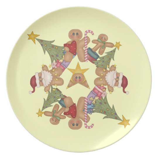 Gingerbread Christmas Plate