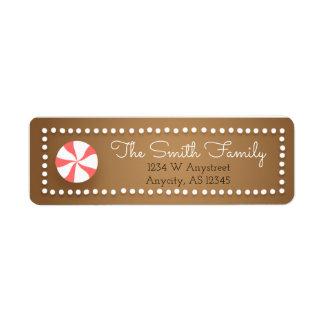 Gingerbread Christmas Return Address Labels