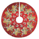Gingerbread Christmas Sweet Candy Brushed Polyester Tree Skirt