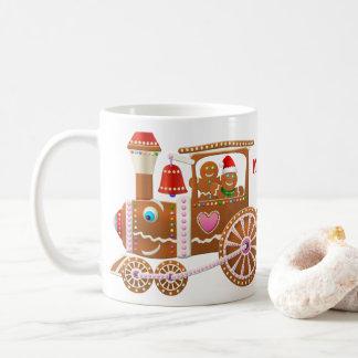 Gingerbread Christmas Train Coffee Mug