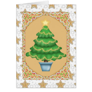 Gingerbread Christmas Tree Card