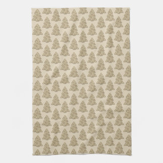 Gingerbread Christmas Tree Cookie Pattern Kitchen Towel