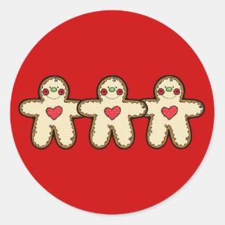 Gingerbread Classic Round Sticker