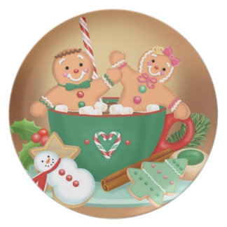 Gingerbread Cocoa Melamine Plate