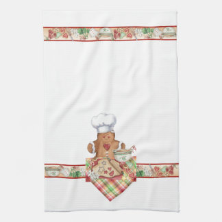 Gingerbread Cookie Baker Chef Kitchen Towel