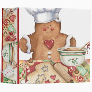 Gingerbread Cookie Baker EZ Turn Ring Binder