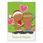 Gingerbread Cookie Couple Christmas Greeting Card