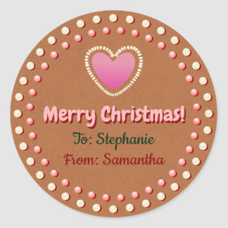 Gingerbread Cookie Customized Xmas Gift Label