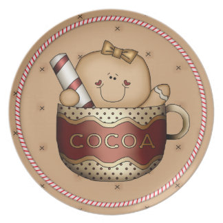 Gingerbread Cookie Cutie Candy Cane Christmas Plate