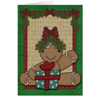 Gingerbread Cookie - Girl Card