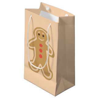 Gingerbread Cookie Light Cream Glossy Gift Bag