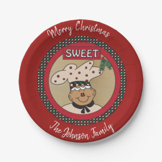 Gingerbread Cookie or Treat Plate