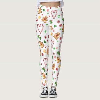 Gingerbread Cookie Peppermint Candy Legging