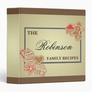 Gingerbread Cookie Recipe Family Christmas Holiday 3 Ring Binder