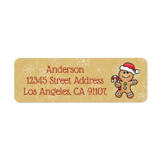 Gingerbread Cookie Return Address Label