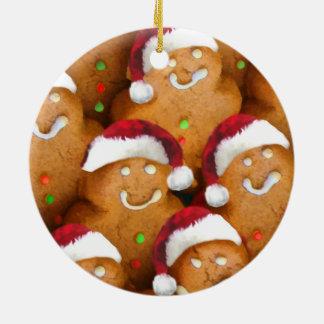 Gingerbread Cookie Santa Xmas Ornament