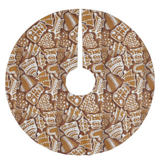 Gingerbread Cookies Brushed Polyester Tree Skirt