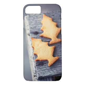 Gingerbread Cookies Christmas Tree Wooden Texture iPhone 8/7 Case