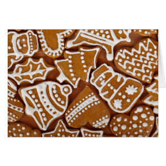 Gingerbread Cookies custom text greeting card