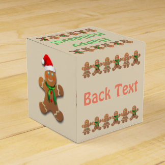 Gingerbread Cookies Dancing Favor Box