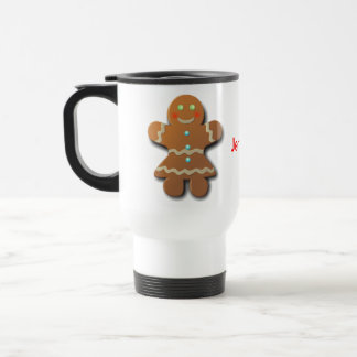 Gingerbread Cookies In Party Dress Travel Mug