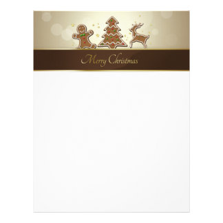 Gingerbread Cookies - Letterhead Stationery