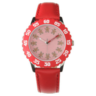 Gingerbread  Cookies Red Watches