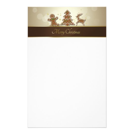 Gingerbread Cookies - Stationery Letterhead