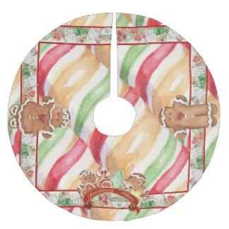 Gingerbread Cookies Tree Skirt Brushed Polyester Tree Skirt