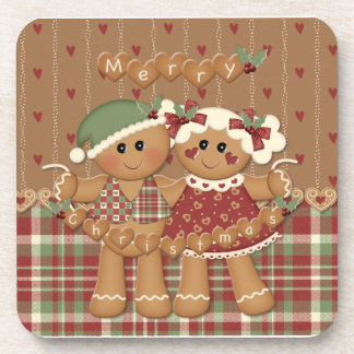 Gingerbread Country Christmas Coaster