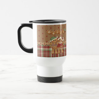 Gingerbread Country Christmas Travel Mug