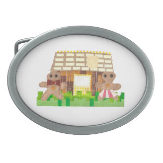 Gingerbread Couple Buckle Oval Belt Buckles