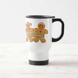 Gingerbread Couple First Christmas Travel Mug