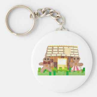 Gingerbread Couple Keyring Basic Round Button Keychain