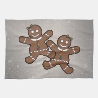 Gingerbread Couple Lesbian Pride Kitchen Towel