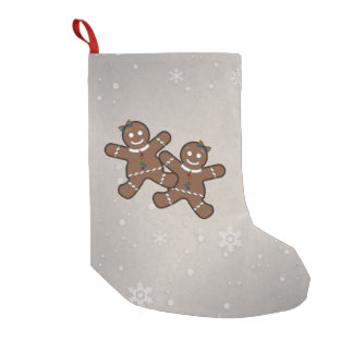 Gingerbread Couple Lesbian Pride Small Christmas Stocking