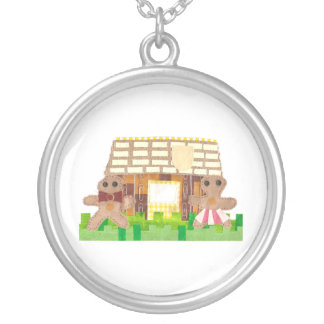 Gingerbread Couple Necklace