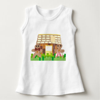 Gingerbread Couple No Background Baby Dress