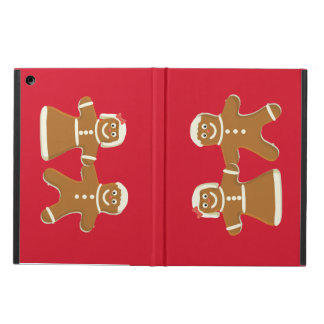 Gingerbread Couple on Red Holiday iPad Air Case