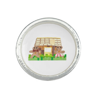 Gingerbread Couple Ring