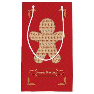 Gingerbread Cutout Small Gift Bag