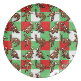 Gingerbread Dinos Plate
